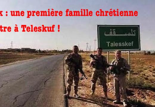 Irak : une première famille chrétienne rentre à Teleskuf