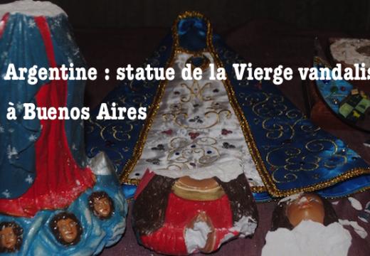 Buenos Aires : une statue de la Vierge vandalisée