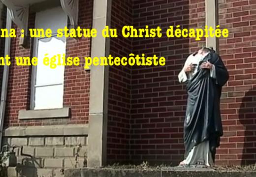 États-Unis : une statue du Christ décapitée – deux fois ! – à Indianapolis