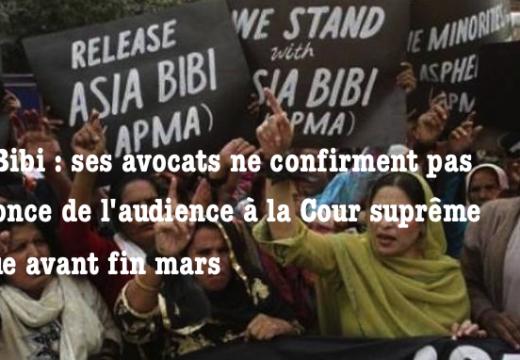 Asia Bibi : pas de confirmation officielle de la date de son audience à la Cour suprême
