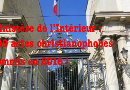 Christianophobie en France : la place Beauvau fait plus fort que votre Observatoire !