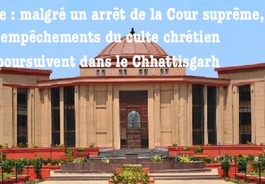 Inde : le christianisme banni dans des villages du Chhattisgarh