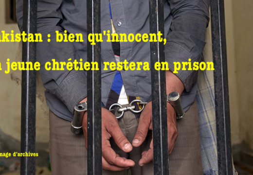 """Pakistan : un adolescent chrétien maintenu en prison pour """"blasphème"""""""