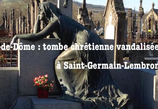 Saint-Germain-Lembron : tombe vandalisée dans le cimetière communal