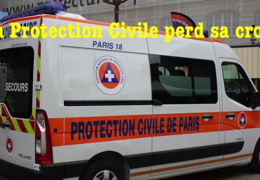 La Protection civile perd sa croix…