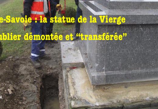 """Haute-Savoie : la statue de la Vierge de Publier """"transférée"""""""