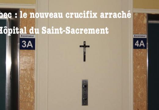 Québec : le crucifix de nouveau ôté à l'Hôpital du Saint-Sacrement