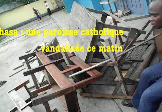 RDC : paroisse catholique vandalisée à Kinshasa