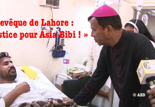 L'archevêque de Lahore : « Justice pour Asia Bibi ! »