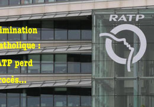 Discrimination anticatholique : la RATP perd un procès
