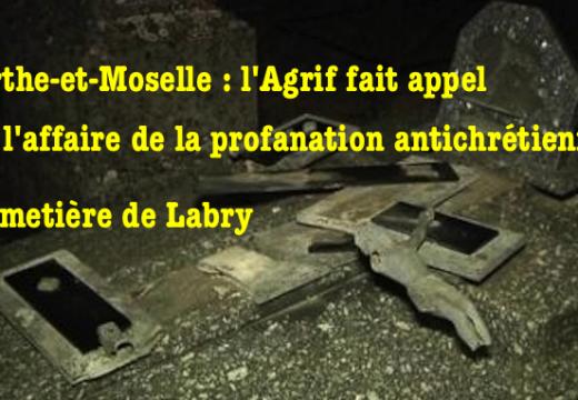 Profanation du cimetière de Labry : l'AGRIF fait appel