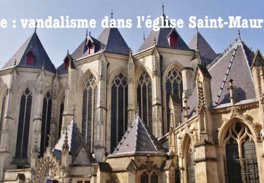 Lille : vandalisme dans l'église Saint-Maurice