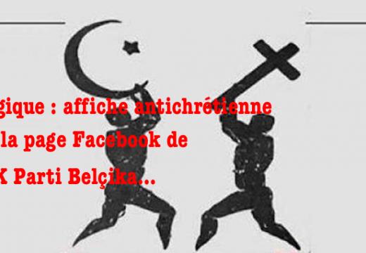 Belgique : affiche antichrétienne de l'AK Parti Belçika