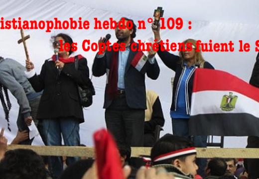 """""""Christianophobie hebdo"""" n° 109 vient de paraître !"""