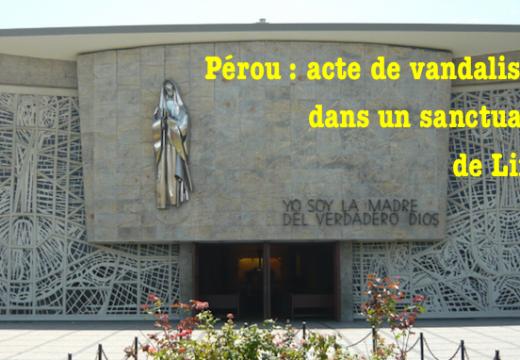 Pérou : une statue de la Vierge détruite à Lima