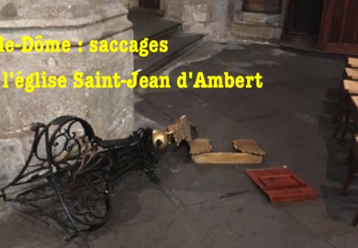 Puy-de-Dôme : église saccagée à Ambert