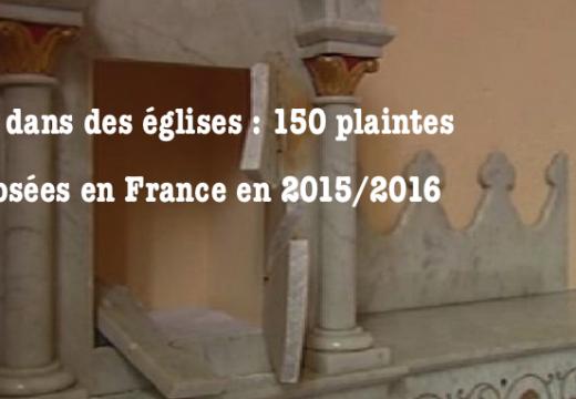 France : 150 plaintes déposées pour vols dans des églises