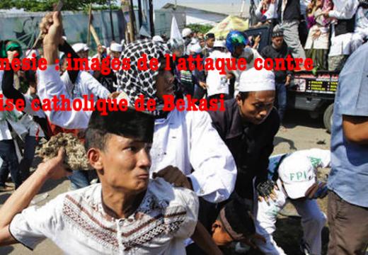 Indonésie : images de l'assaut contre le chantier de l'église catholique