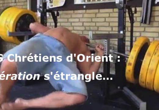 """SOS Chrétiens d'Orient : """"Libération"""" s'étrangle…"""