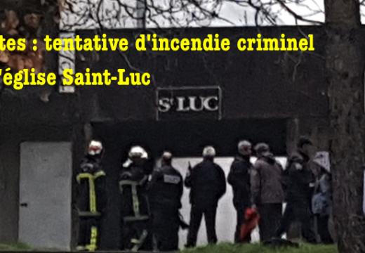 Nantes : tentative d'incendie criminel de l'église Saint-Luc