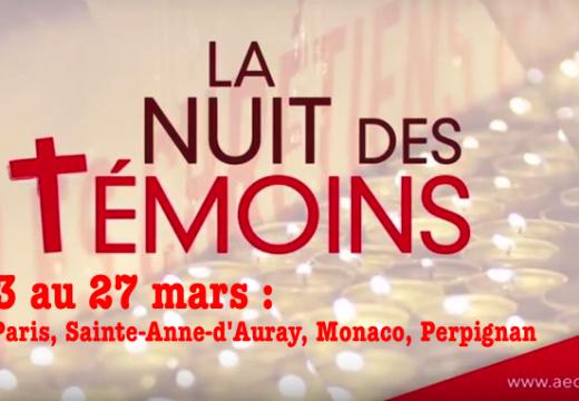 Nuit des Témoins 2017 : Reims, Paris, Sainte-Anne-d'Auray, Monaco, Perpignan…