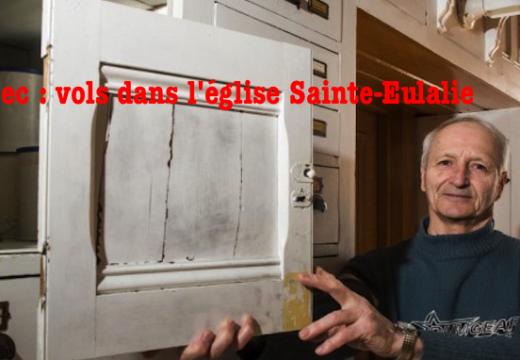 Québec : vol dans l'église de Sainte-Eulalie