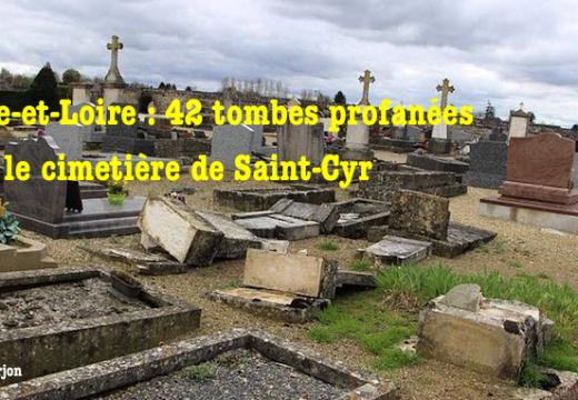 Saône-et-Loire : 42 tombes profanées dans le cimetière de Saint-Cyr