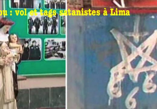 Pérou : vol d'une statue et tags satanistes à Lima
