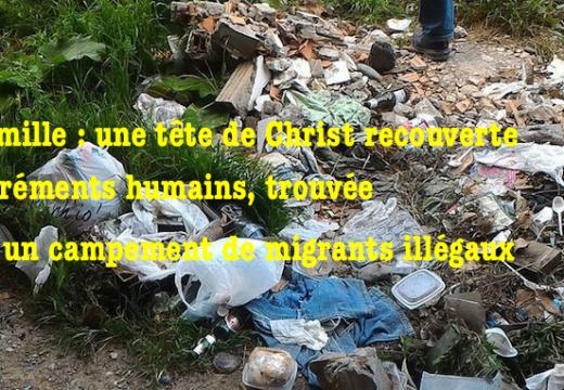 Italie : tête de Christ retrouvée couverte d'excréments humains à Vintimille
