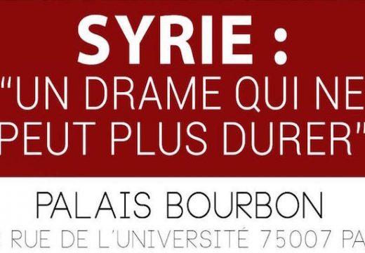 Conférence à Paris : «Syrie, un drame qui ne peut plus durer »