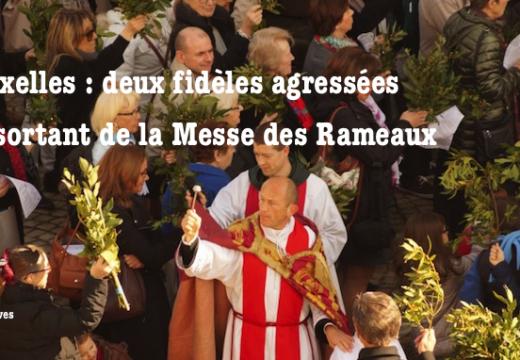 Bruxelles : deux fidèles agressées en sortant de la Messe des Rameaux