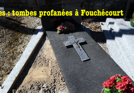 Vosges : cimetière profané à Fouchécourt