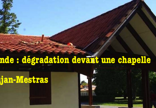 Gironde : dégradation devant une chapelle à Gujan-Mestras