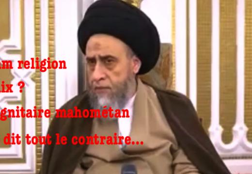 L'islam religion de paix ? Un dignitaire musulman nous dit tout le contraire…