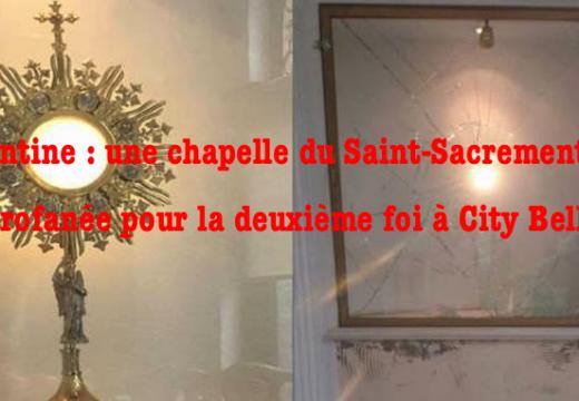 Argentine : vol d'un ostensoir et profanation dans une chapelle City Bell