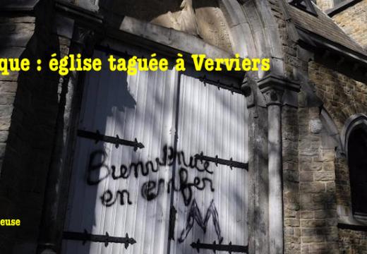 Belgique : église taguée à Verviers