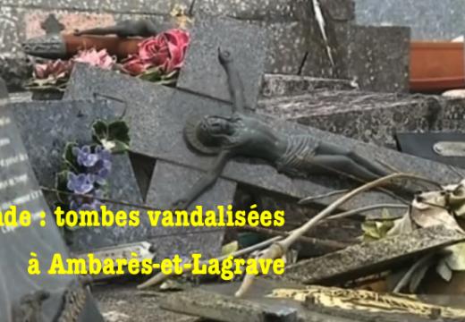 Gironde : une quarantaine de tombes vandalisées à Ambarès-et-Lagrave