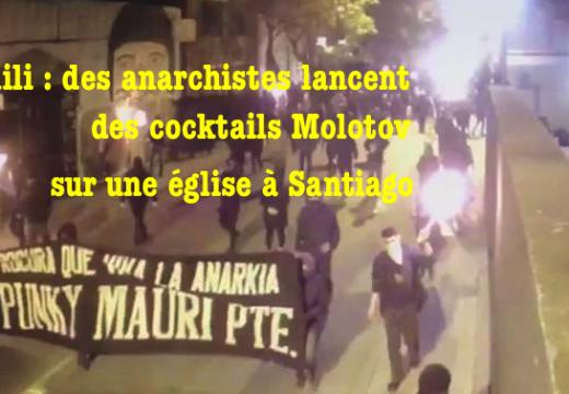 Chili : cocktails Molotov contre une église à Santiago