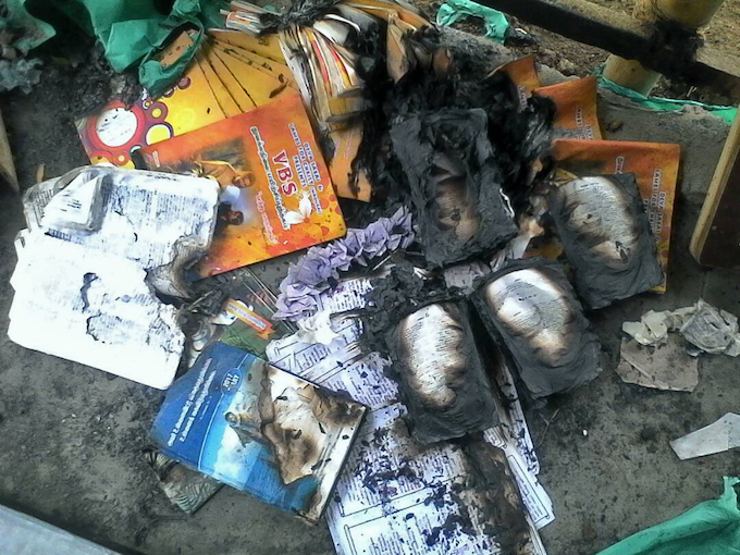 Bibles-and-other-Christian-literature-charred-in-fire-in-Tamil-Nadu-state-India.-Morning-Star-News