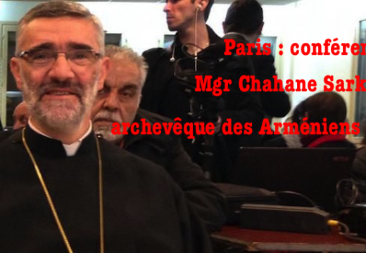 Paris : conférence de Mgr Chahane Sarkissian