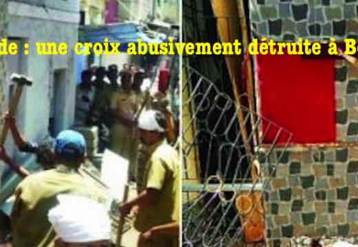 Inde : une croix abusivement détruite à Bombay