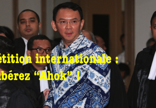 Citizen GO : pétition pour la libération de l'ancien gouverneur de Djakarta