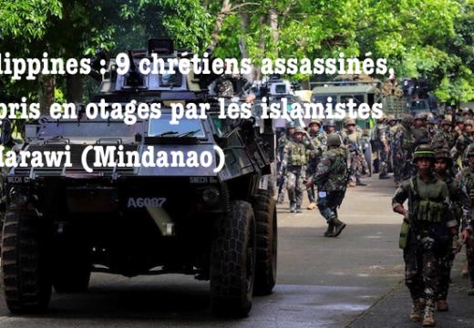Mindanao : 9 chrétiens tués par les islamistes, 14 autres otages à Marawi