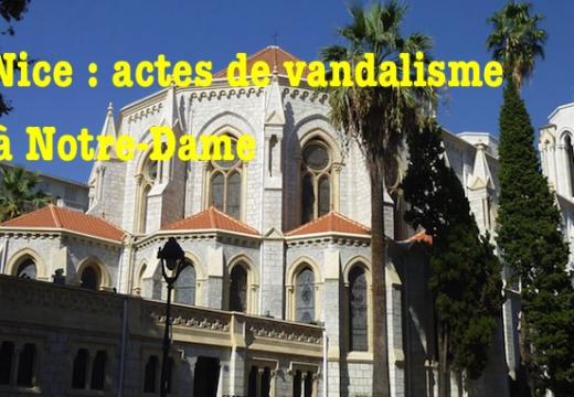 Nice : la basilique Notre-Dame vandalisée