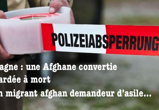 Allemagne : une réfugiée afghane convertie poignardée à mort par un migrant afghan