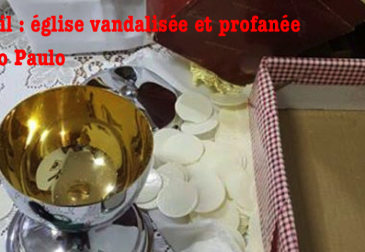 Brésil : église vandalisée et profanée à Sao Paulo