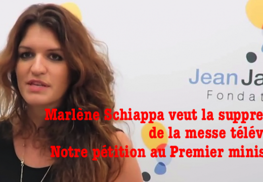 Marlène Schiappa ne veut plus de messe à la télé : notre pétition !