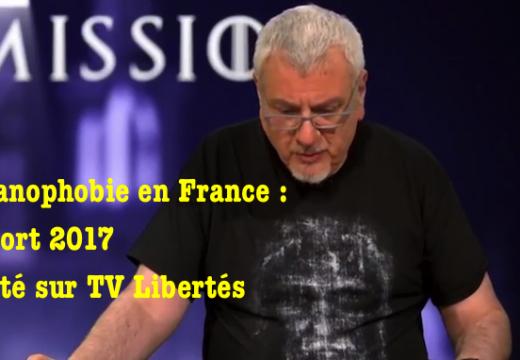 """TVLibertés : notre """"Rapport sur la christianophobie"""" (2017) annoncé"""