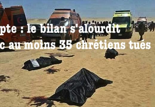 35 morts : le bilan du massacre de chrétiens en Égypte s'alourdit