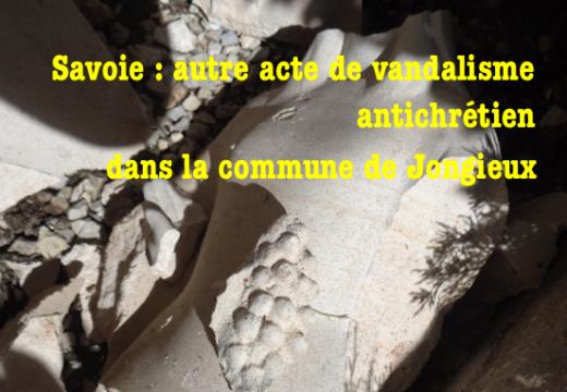 Savoie : autre acte de vandalisme antichrétien dans le village de Jongieux